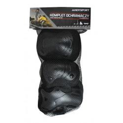 Ochraniacze kolan łocki nadgarstków AXER BLACK M/L wzrost 130-160cm