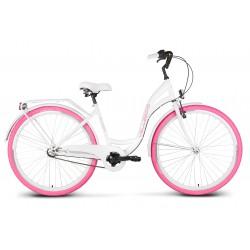 """Rower 28 VELLBERG D CTB NEXUS 3-bieg. 18"""" biały + różowe opony"""