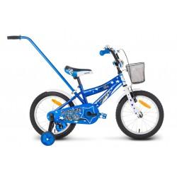 Rower 16 ROCK KIDS POLICE niebieski