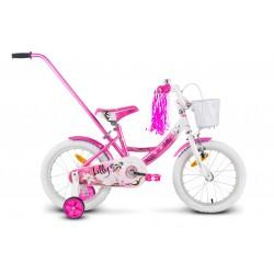Rower 16 ROCK KIDS LILLY różowy
