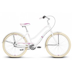 Rower KROSS 26 Le Grand SANIBEL M biało-różowy połysk