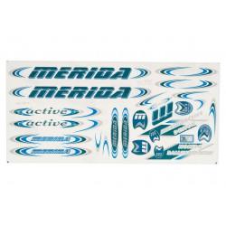 Naklejka KR4 - MERIDA granatowo-niebiesko-srebrna