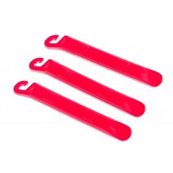 Łyżki do opon plastikowe czerwone 3 sztuki