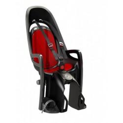 Fotelik rowerowy HAMAX Zenith szary czerwona wyściółka na bagażnik 2017