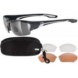 Okulary UVEX BLAZE III 3 pary soczewek - czarne