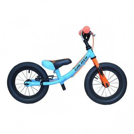 Rowerek biegowy 12 GALAXY KOSMIK niebiesko-pomarańczowy