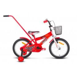 Rower 16 ROCK KIDS SPARK czerwony
