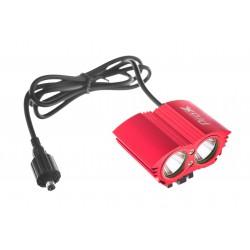 Lampa przednia PROX DUAL POWER 2xCREE 1600lm akumulator czerwona
