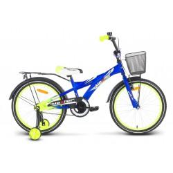 Rower 20 MEXLLER BMX niebiesko-seledyn. mat + koszyk 17r