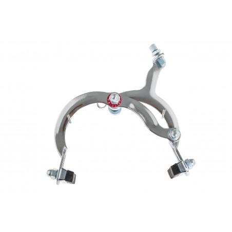 Hamulec rowerowy szczękowy tylny turysta srebrny