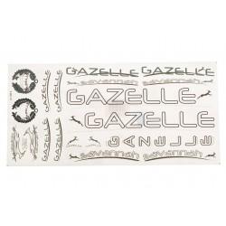 Naklejka KR4 - GAZELLE biała