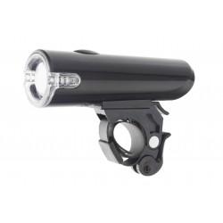 Lampa przednia /bateryjna/ 1-LED 1W ROMET R-105 czarna