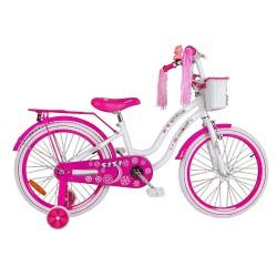Rower 20 MEXLLER SISI biało-różowy