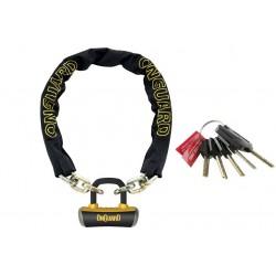 Zamknięcie łancuch ONGUARD 8019 Mastiff 110cm x 10mm, 5xklucz