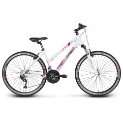 """Rower 28"""" VELLBERG cross EXPLORER 3.1 D  ALIVIO biało-różowy mat 19"""""""