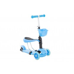Hulajnoga Axer 3-kołowa z siedziskiem niebieska