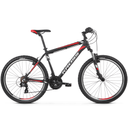 Rower 26 KROSS HEXAGON 1.0 XS  czarn-biał-czerw mat