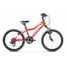 Rower 20 KROSS LEVEL MINI 2.0 czerw-biał poł