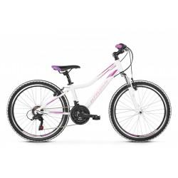 Rower 24 KROSS LEA JR 1.0 biało-róż-fiol poł
