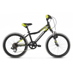 Rower 20 KROSS LEVEL MINI 2.0 czarn-lim-sreb poł