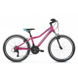 Rower 24 KROSS LEA JR 1.0 róż-nieb-fiol poł