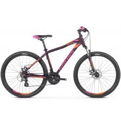 Rower 26 KROSS LEA 3.0 XXS fiolet-róż-pomar. mat