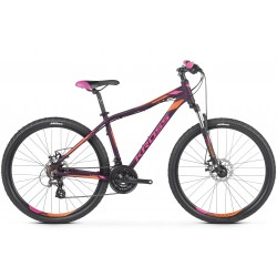 Rower 26 KROSS LEA 3.0 XS fiolet-róż-pomarańcz mat