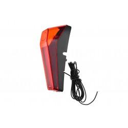 Lampa tylna /dynamo/ na błotnik, wbudow. odblask, 0.6W