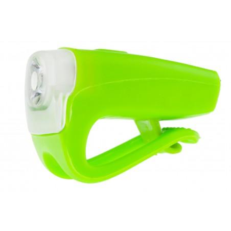 Lampa przednia /bateryjna/ 1-LED 3W na kierownice ROMET JY-378 zielona