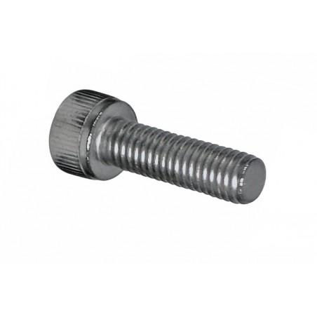 Śruba koszyka bidonu OXF M5 x 12mm stalowa srebrna
