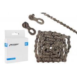Łańcuch ACCENT AC-902 9-rzędowy sreb-szary