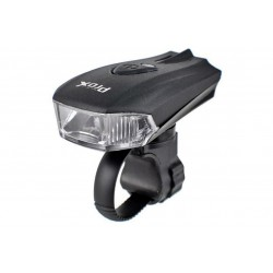 Lampa przednia /akumulator/ PROX ORION 1xCREE+2xLED 400lm USB czarna