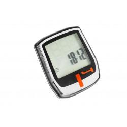 Licznik rowerowy TOP ACTION T4 przewodowy czar-sreb-pomarańczowy