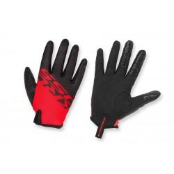 Rękawiczki KROSS RACE LONG 2.0 długie palce czarno-czerwone L