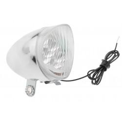 Lampa przednia chrom RETRO prądnica