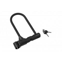 Zamknięcie U-LOCK KROSS ULTIMATE 420 czarne, klucz, 230x108mm + uchwyt