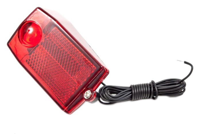 Lampa tylna na błotnik dynamo JY-705 skręcana