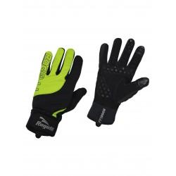 Rękawiczki ROGELLI STORM dł.palce ocieplane czarne/fluor XL