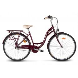 """Rower 28"""" VELLBERG CityLine NEXUS 3-biegi wiśniowy"""