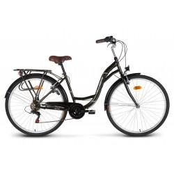 """Rower 28"""" VELLBERG CityLine TY300 6-bieg czarny"""