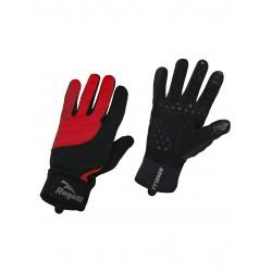 Rękawiczki ROGELLI STORM dł.palce ocieplane czarno/czerwone XL