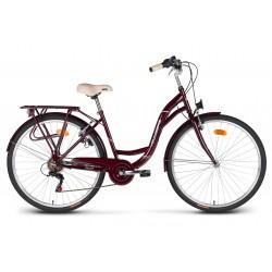"""Rower 26"""" VELLBERG CityLine TY300 6-bieg wiśniowy"""
