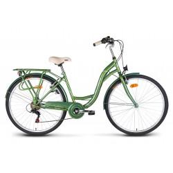 """Rower 26"""" VELLBERG CityLine TY300 6-bieg zielony"""
