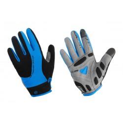 Rękawiczki ACCENT CHAMPION  z długimi palcami XL czarno-niebieskie