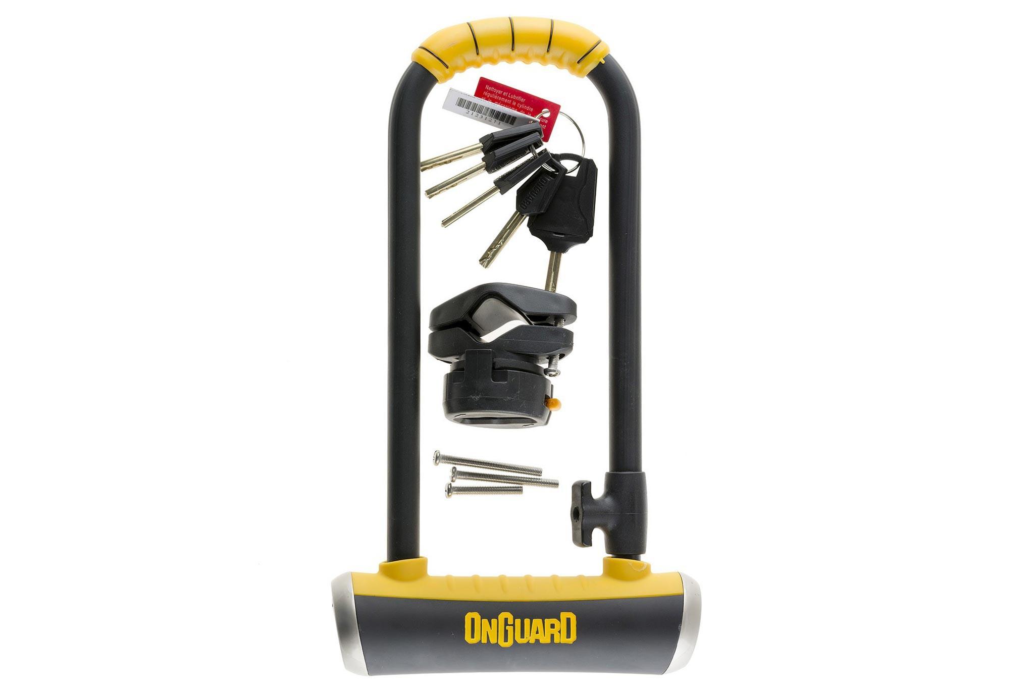 Zamknięcie ONGUARD PitBull Mini LS 8007 U-LOCK - 14mm 90mm 240mm - 5 x Klucze z kodem