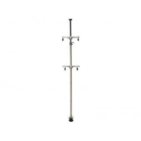 Exhibition stand for 2 bikes. Variable height 205-375cm.