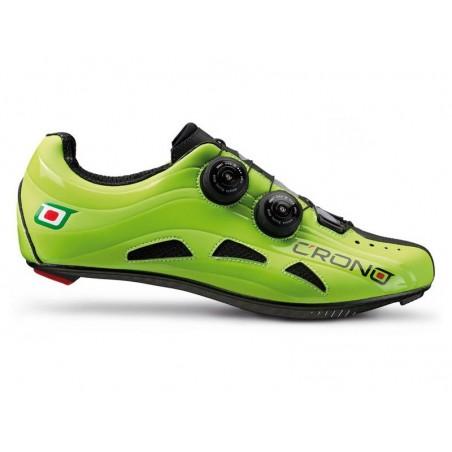 Cycling shoes road Crono Road Futura 2 Nylon green size 45