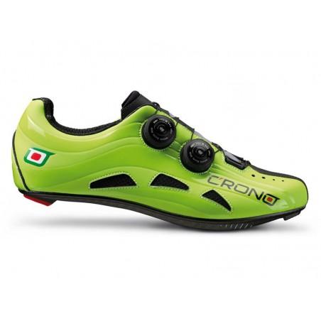Cycling shoes road Crono Road Futura 2 Nylon green size 40