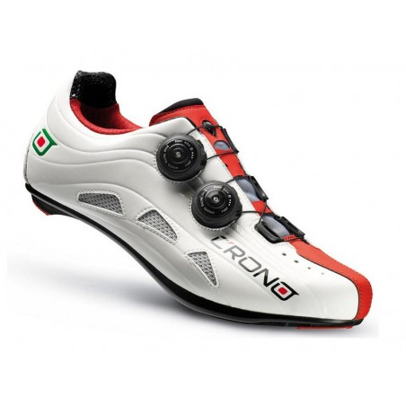 Cycling shoes road Crono Road Futura 2 Carbon white red size 40
