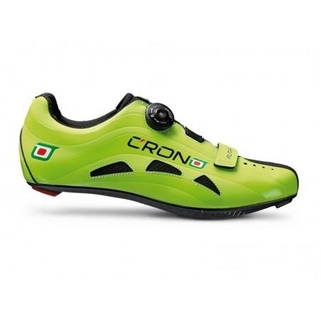 Cycling shoes road Crono Road Futura Carbon green size 45